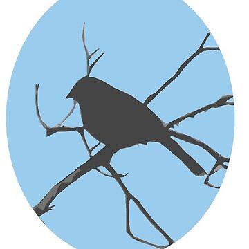 Bird Silhouette Sticker by BlueNorth