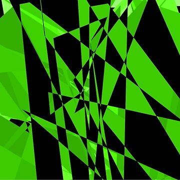 Green and black abstract design by JohnyZero