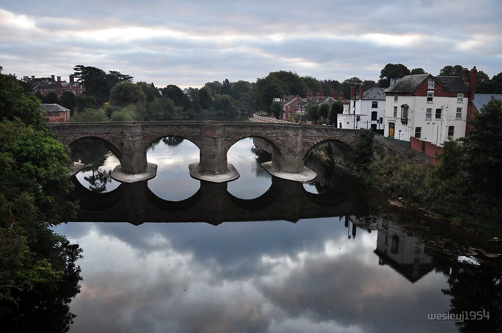 The old bridge, Hereford by wesleyj1954