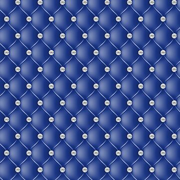 Elegant Royal Blue Diamond Tufted Look Upholstery Pattern by jollypockets