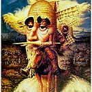 DON QUIXOTE : Vintage Abstract Dali Tilting at Windmills Print by posterbobs