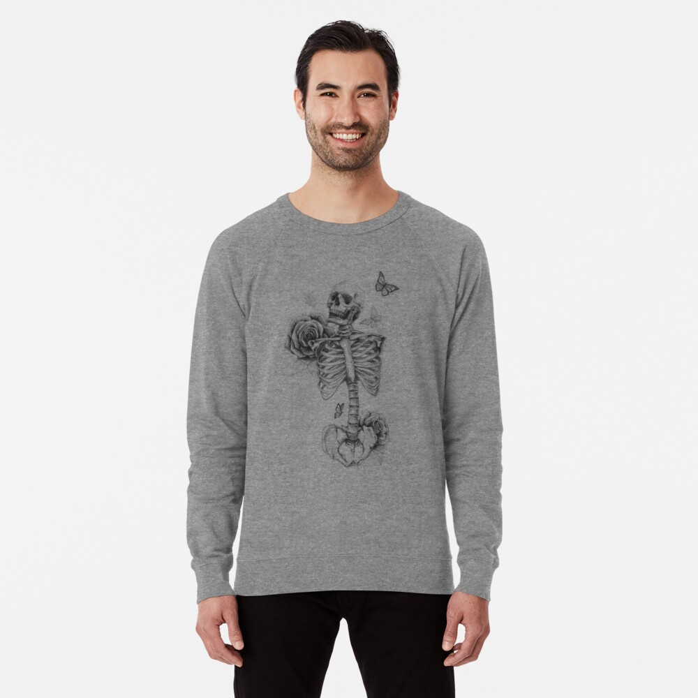 Skeleton and Roses Lightweight Sweatshirt