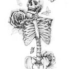 Skeleton and Roses by mikekoubou