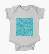 Classic baby polka dots in cyan. One Piece - Short Sleeve