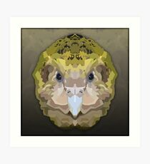 Topographic: Kakapo Art Print