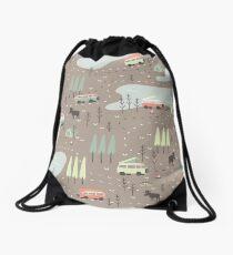 Long and Winding Road Drawstring Bag