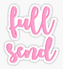 Full Send - Pink Sticker
