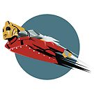 Rocketeer Logo Art Deco Flight by baggss