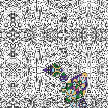 Colorig book pattern by Lenka24