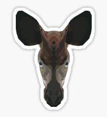Topographic: Johnstoni (Okapi) Sticker
