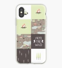 Into the Wild - Faux Quilt Pattern iPhone Case