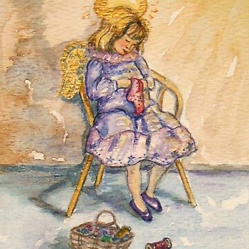 An Angel quietly sews... by Lornie