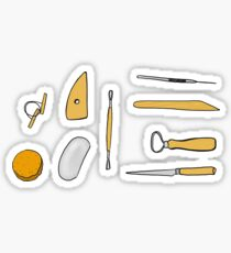 Pottery Clay Tool Sticker Set Sticker