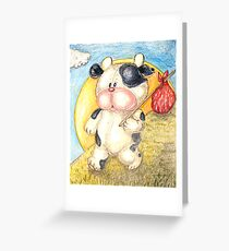 Moo Moo Cow Will Travel... Greeting Card