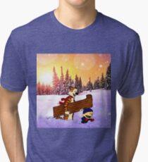 Calvin christmas Tri-blend T-Shirt