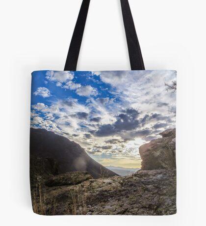 rocks and sky Tote Bag