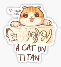 A Cat on Titan Sticker