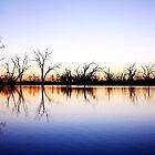 Sunset over Pamamaroo Lake by Lexa Harpell