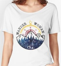 Camping Wander Woman Hiking Vintage Women's Relaxed Fit T-Shirt