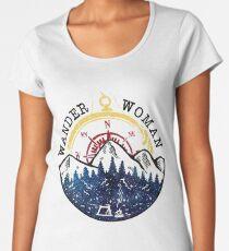 Camping Wander Woman Hiking Vintage Women's Premium T-Shirt