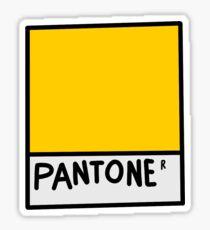 yellow pantone Sticker