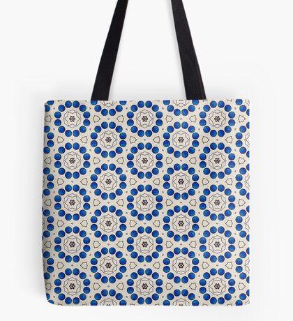 12 Blue Circles  Tote Bag
