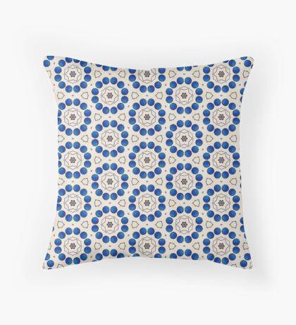 12 Blue Circles  Throw Pillow