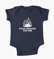 Ryan Started the Fire Short Sleeve Baby One-Piece