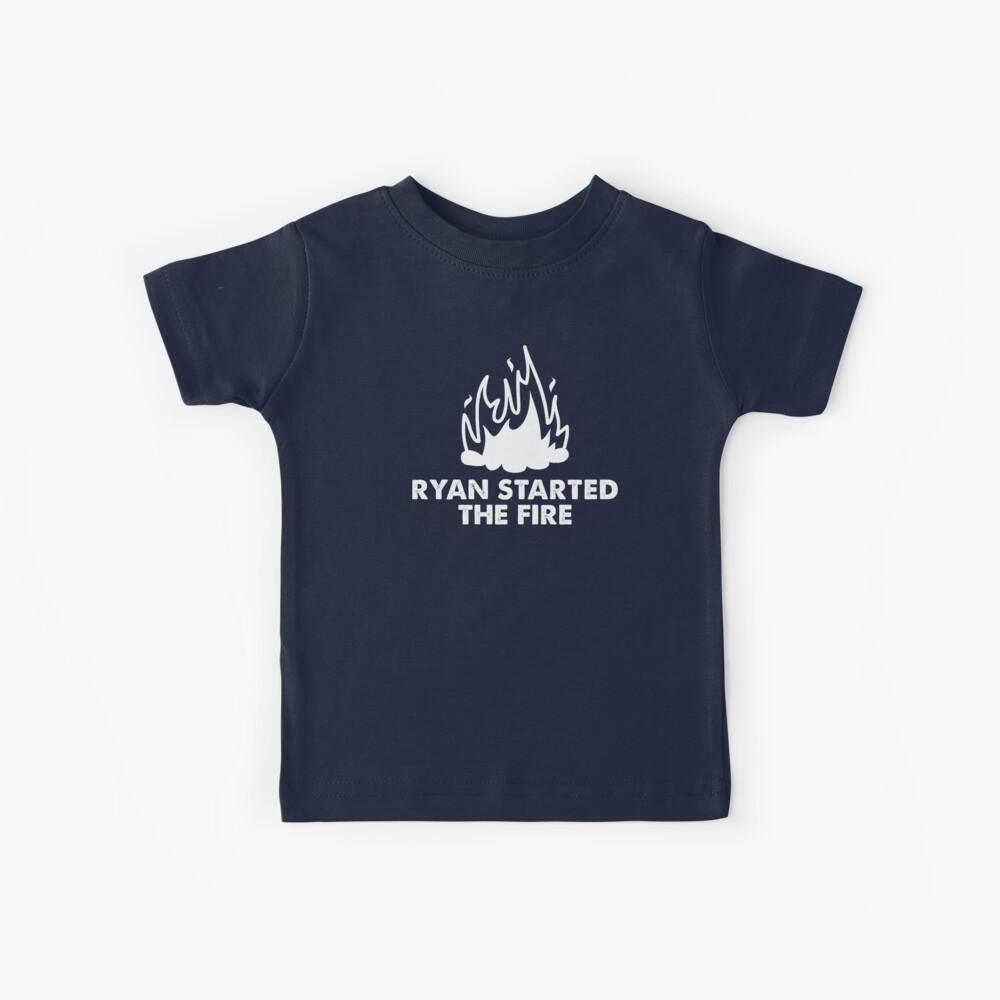 Ryan comenzó el fuego Camiseta para niños