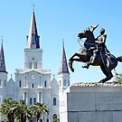 St. Louis Cathedral from Jackson Square 2  by Robert Meyers-Lussier