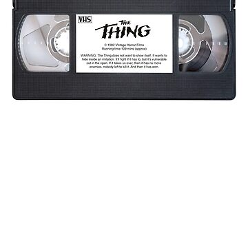Vintage VHS: The Thing by EstrangedShop