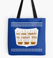 Bolsa de tela NYC Greek Anthora Coffee Cup Design