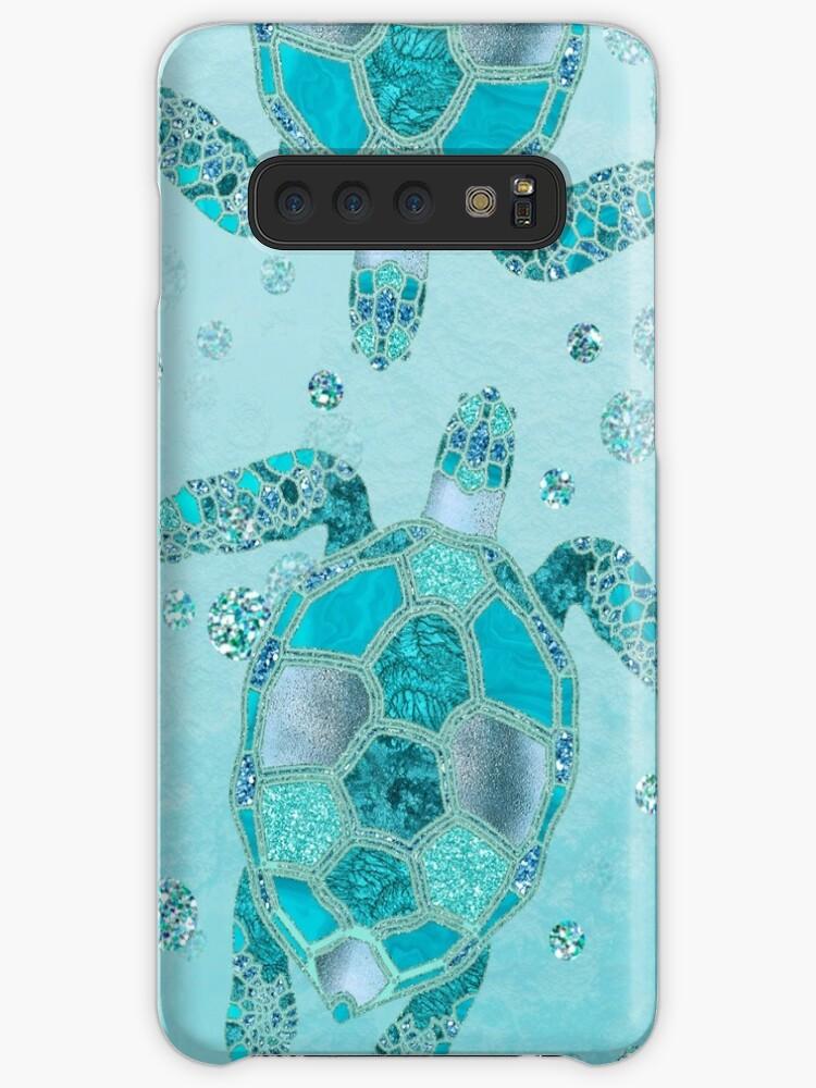 Glamour Aqua Turquoise Turtle Unterwasserlandschaft von artsandsoul