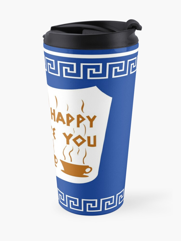 Alternate view of NYC Greek Anthora Coffee Cup Design Travel Mug