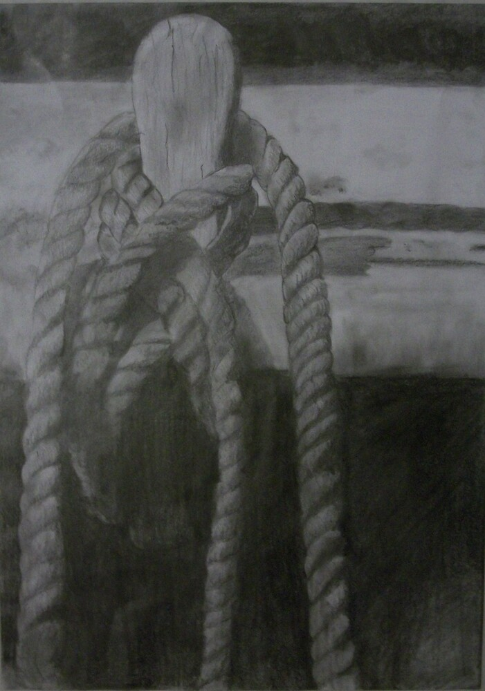 Rope On a Mouring Post by evilbutterfly91
