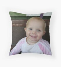 Happy Iris Throw Pillow