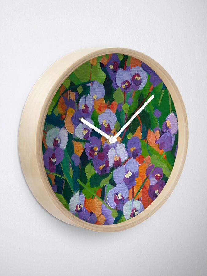 Alternate view of Hardenbergia Clock