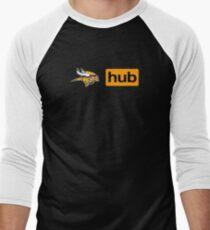 Minnesota Vikings Porn Hub Men's Baseball ¾ T-Shirt
