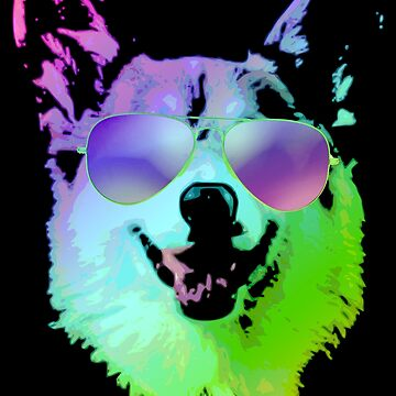 Cool Corgi With Sunglasses by idaspark