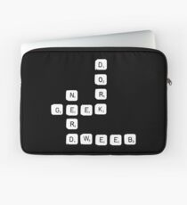 Nerd  Geek Dork Dweeb Scrabble Word Game Gift Laptop Sleeve