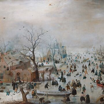Winter Landscape with Skaters -  Barent Avercamp and Hendrick Avercamp by themasters