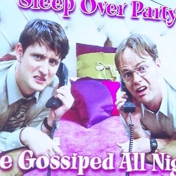 Sleep over party, we gossip all night Dwight Schrute the office  by VinyLab