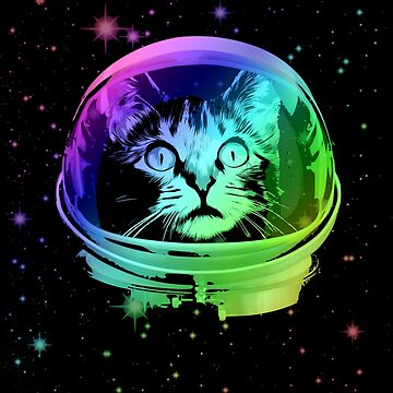 Cat Astronaut In Outer Space by idaspark