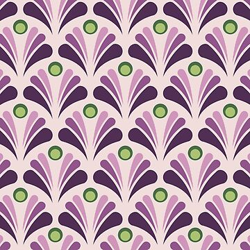 Geometric Pattern: Art Deco: Peacock: Violet by redwolfoz