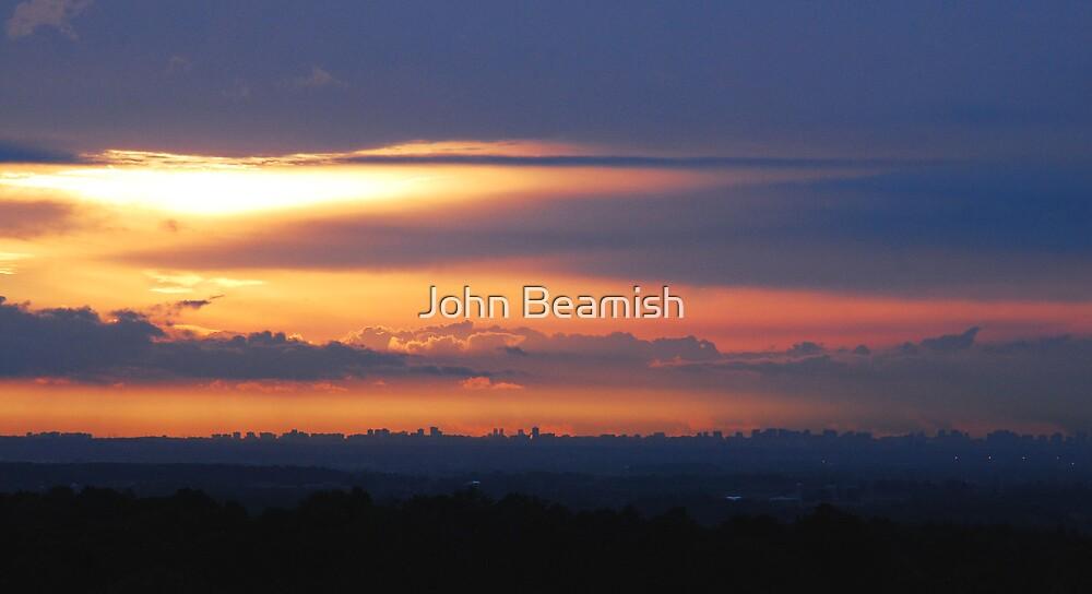 Brampton Ontario Skyline...from 20 miles by John Beamish