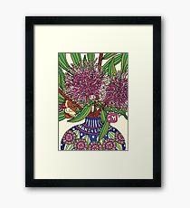 Bud Vase of Hakea Laurina Framed Print