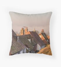 Eary Morning Fog - Rye East Sussex Throw Pillow