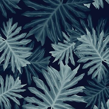 Philo Hope - Tropical Jungle Leaves Pattern #5 #tropical #decor #art  by anitabellajantz