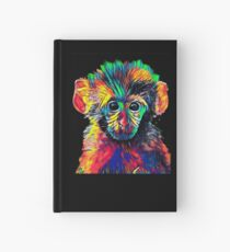 Cute Baby Monkey Colored Design Hardcover Journal