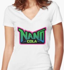 Nano Cola  Women's Fitted V-Neck T-Shirt